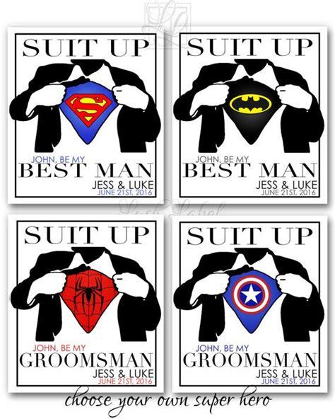 suit up groomsmen card template best groomsmen wine flask by lushlabel