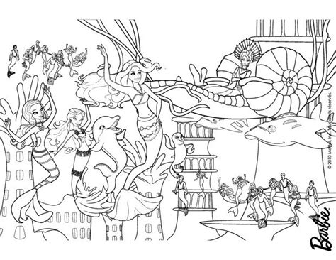 underwater mermaid coloring pages mermaids party under the sea free barbie coloring pages