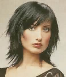 images choppy shag hairstyle medium length choppy haircuts