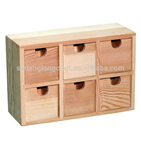 unfinished wood storage drawers unfinished small wooden drawers craft organizer box buy