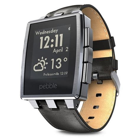 Smartwatch Pebble pebble steel smartwatch metal