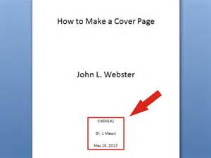 How To Write A Cover Page For A Resume by 6 Ways To Make A Cover Page Wikihow