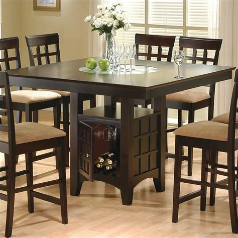 coaster hyde counter height square dining table with