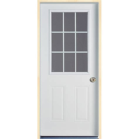 Rona Exterior Door 9 Lite Steel Door Rona