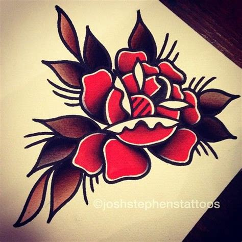 oldschool rose tattoo 25 best ideas about school on