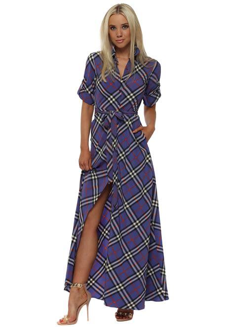 Tara Checker Shirt Dress goddess maxi shirt dress