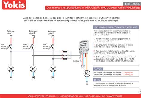 Schema De Commande Eclairage by Mtr2000e T 233 L 233 Rupteur Temporis 233 Encastr 233 2000w Yokis