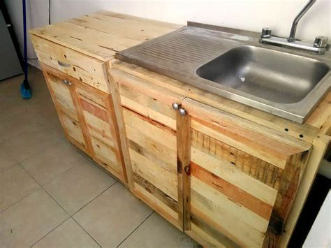 diy pallet kitchen cabinets kitchen wholly made from recycled pallets 99 pallets