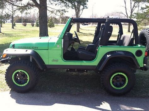 Jeep Rubicon Lime Green Find Used Jeep Wrangler Rubicon Tj 2004 Electric Lime