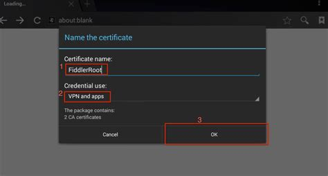 android certificate installer fiddler for ios and android encyclopedia of daniel