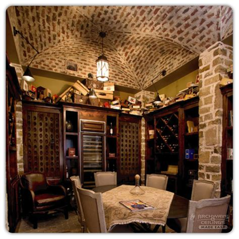 Vaulted Ceiling Basement Innovative Wall Ideas Concept In