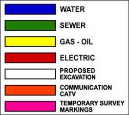 utility marking colors alaska dig line 187 faq