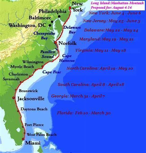 map us atlantic coast beachwalk atlantic coast route map