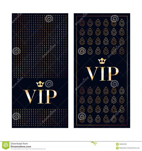 vip card template set of vip cards design vector illustration