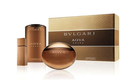 Parfum Bvlgari Aqva Amara bvlgari aqva amara spay eau de parfum shoo and shower gel gift set groupon