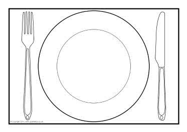 Plate Template dinner plate a4 editable templates sb4904 sparklebox