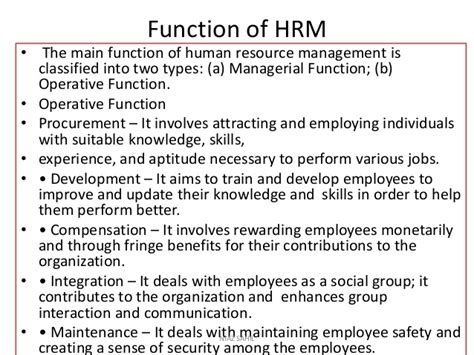 What Is The Purpose Of The Department Of Interior by Human Resource Management Complete Note