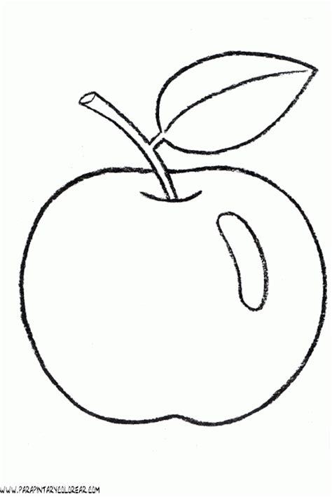 imagenes para colorear manzana dibujo de manzana para imprimir y colorear dibujos para