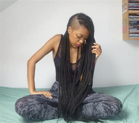 parting hair when braiding a ball braids with shaved sides hair styles pinterest next