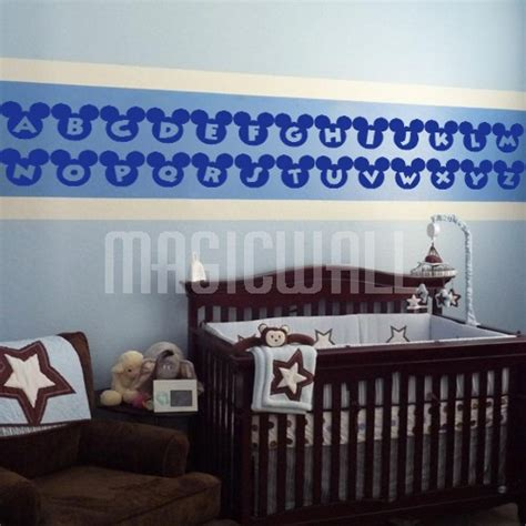 Wall Stickers Alphabet Mickey Mouse Nursery Wall Wall Decals For Nursery Canada