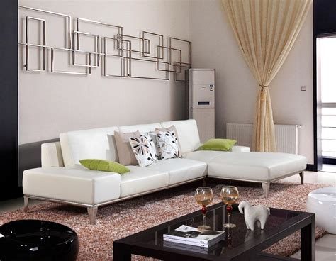 Minimalist Living Room Decoration With White Leather Living Room Ideas With White Leather Sofa