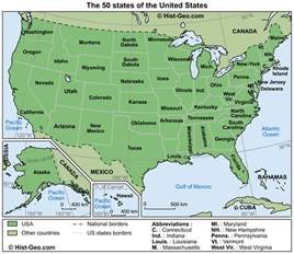 Map Of The Fifty States by Map Usa 50 States Mapsof Net