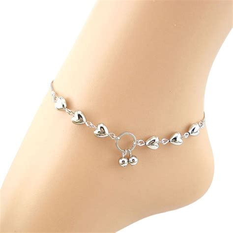 7 Ankle Bracelets by Stylish Silver Bead Jewelry Chain Anklet