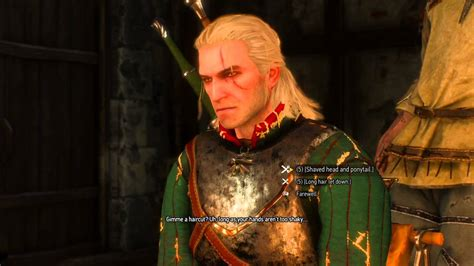 witcher 2 how to change hairstyle the witcher 3 how to change hairstyle and shaving your