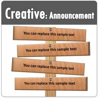 Powerpoint Creative Text Boxes For Announcements Powerpoint Announcement Templates