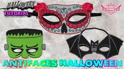 imagenes de halloween foami tutorial halloween antifaces de goma eva foamy youtube