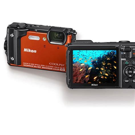 brand new nikon w300 waterproof underwater digital orange retail box ebay