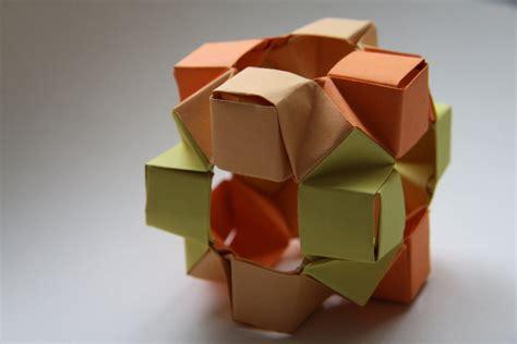Modular Cube Origami - modular origami wierd cube by 177cm on deviantart