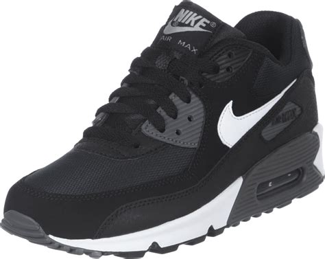 nike air max  youth gs shoes black white