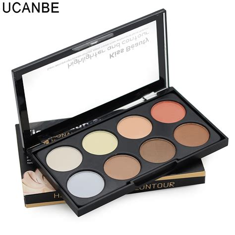 Pallete 8in1 Countur Shaddingfoundation 2016 contouring makeup 8 color bronzer highlighter palette brighten contour concealer 3 in 1