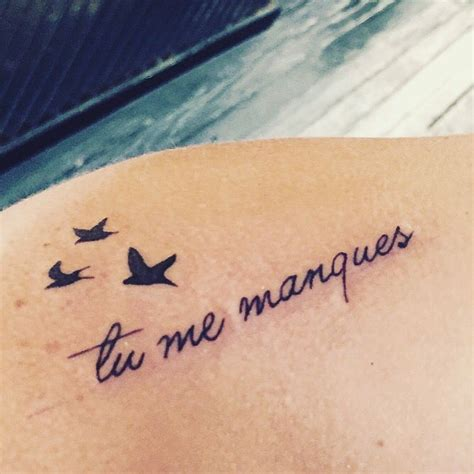 tattoos in french for my quot tu me manques quot in means