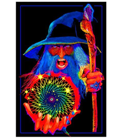 Black Light L by Bl6023 Opticz Mystic Wizard Blacklight Poster