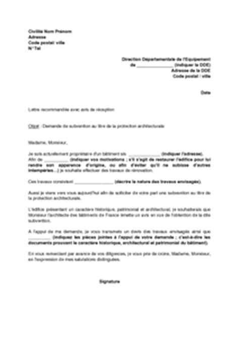 Demande De Subvention Lettre Exemple De Lettre De Demande De Subvention