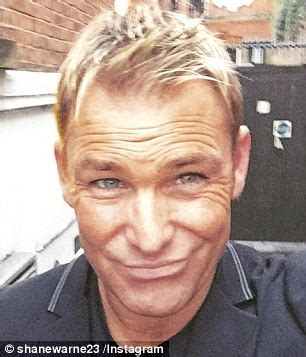 does shane warne wear a hair shane warne 46 reveals his salt and pepper beard as he