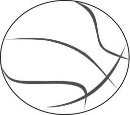 Basketball Outline Clip Art At Clkercom  Vector Online sketch template