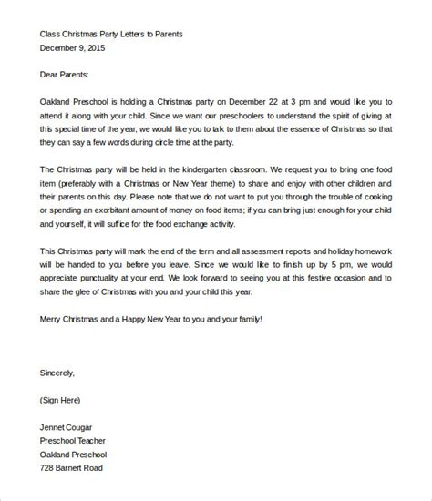 parent letter from template 8 parent letter templates free sle exle format