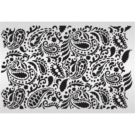 Paisley Stencil Templates Free 18 Stencils Of Paisley Design Images Paisley Pattern Stencil Wall Stencils Of Paisley Design