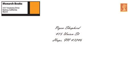 monarch envelope template shepherd monarch books