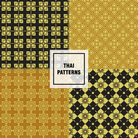 pattern collection download thai patterns collection vector free download