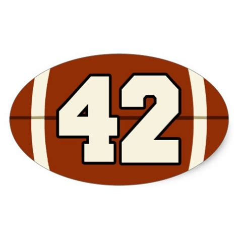 The Oval by Number 42 Football Sticker Zazzle