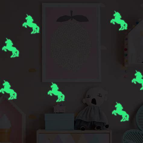 glow in the dark unicorn decal art mural home room decor
