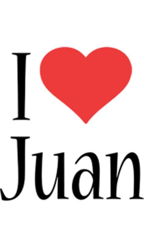 Imagenes I Love Juan   juan logo name logo generator kiddo i love colors style