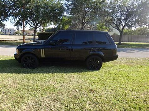 suv blacked out find used 2003 land rover range rover blacked out clean fl