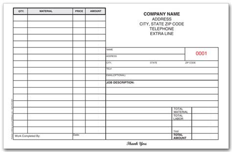 personalized work order forms printit4less com