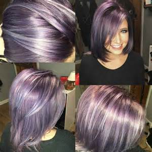 lavendar highlights in salt and pepper hair 1000 ideas about purple grey hair on pinterest gray