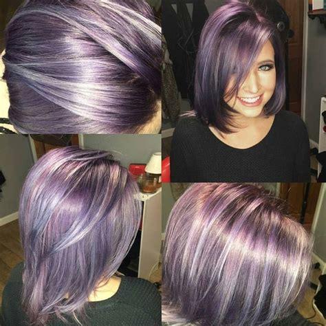 lavendar highlights in salt and pepper hair 1000 ideas about purple grey hair on pinterest gray